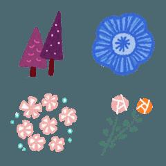 北欧_花と木
