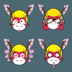 桜の龍の表現ステッカー