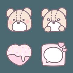 茶ふち絵文字 ♡ 7