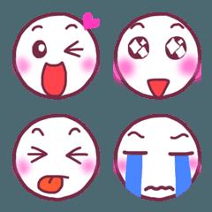丸い顔の表情