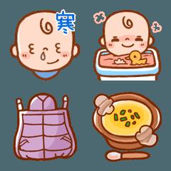 赤ちゃん&子育て絵文字3(冬)
