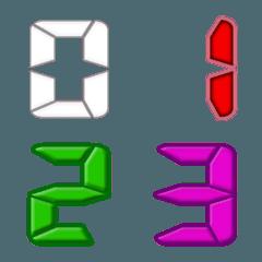 デジタル数字 セグメントナンバー数 修正版