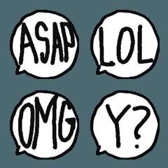 アルファベット略称絵文字
