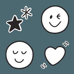 シンプル☆モノクロ絵文字1