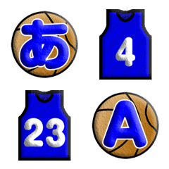 バスケットボール絵文字(青)