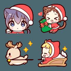 猫耳少年クリスマス絵文字