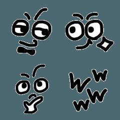 モノトーン シンプル絵文字