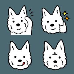 白犬ウエスティの絵文字