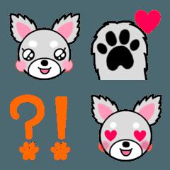 ミックス犬トコちゃんの絵文字です。
