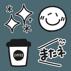 シンプル モノクロ 手書き絵文字