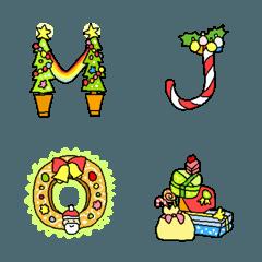 クリスマスメッセージ用デコ絵文字