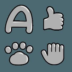 シルバー風の英数字と記号