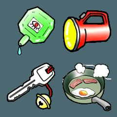 身の回り道具や食べ物で絵文字