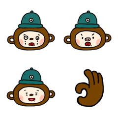 Green hat monkey brother