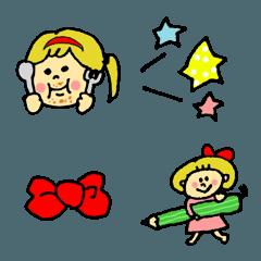 POCAママの絵文字 女の子編 3