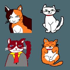 シュールな猫 絵文字