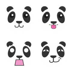 Panda Face by TeJi Studio