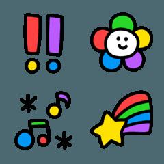 5色のカラフル絵文字