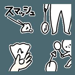 絵文字/デコ文字◎バドミンントン/シンプル