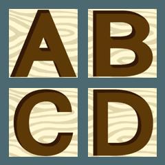 Engraving English font