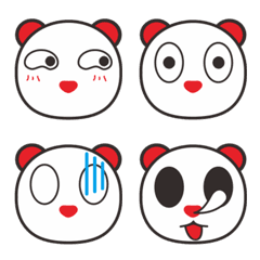 Panda Lele Expression Sticker
