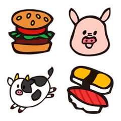 食べ物と動物さん