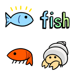 魚と海の生き物 絵文字