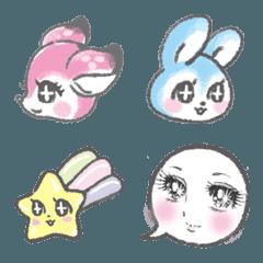 レトロ乙女な動物絵文字
