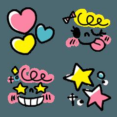 ♥♡5色deガーリー絵文字♡♥