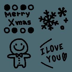 シンプル★クリスマスブラック
