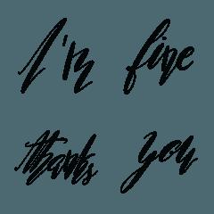 calligraphy..emoji