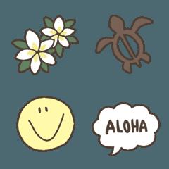 シンプルかわいい大人のハワイ絵文字