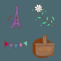 パリ色ナチュラル絵文字