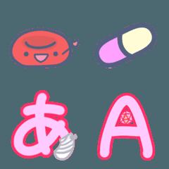 血液成分たち・医療関係の絵文字とデコ文字