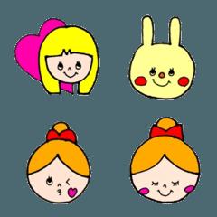 カラフル(Colorful)手書き手描き【表情】