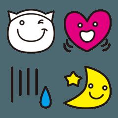 【L】絵文字(猫&ビビットカラー)