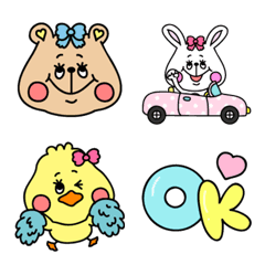 クマとウサギとヒヨコと【絵文字】