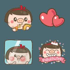 Piglet cute girl emoji