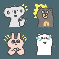 ゆるい動物達の絵文字