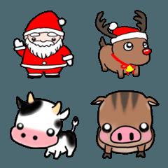 年末年始の絵文字(クリスマス、お正月)