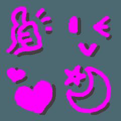 浮いてるシンプル★ピンク★クレヨン