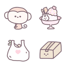 茶ふち絵文字 ♡ 12