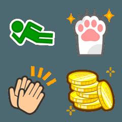 猫の手・ピクトグラム・ハンドサイン