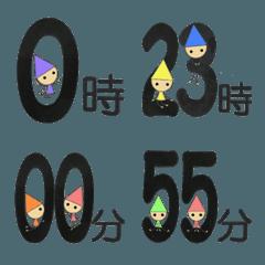 七色こびとの絵文字(時間)