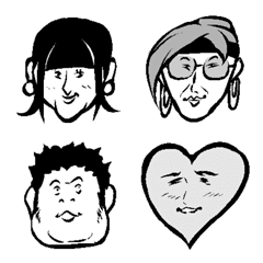 微妙な顔の絵文字達-2顔目