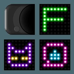 LED電光掲示板風デコ文字(英数字)と絵文字