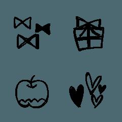 シンプルな落書き絵文字