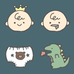 ママベビー赤ちゃん絵文字(男の子ママ)