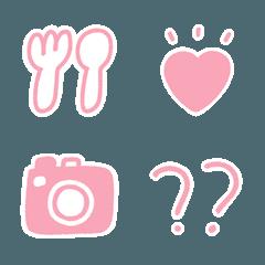 ピンクだらけ絵文字1
