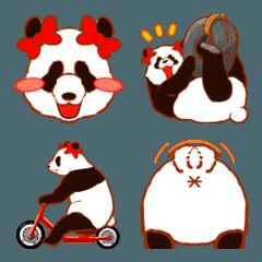 リボンパンダ 絵文字